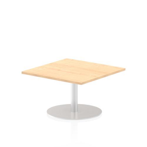 Italia Poseur Table Square 800/800 Top 475 High Maple
