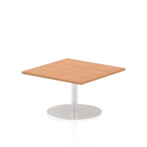 Italia Poseur Table Square 800/800 Top 475 High Oak