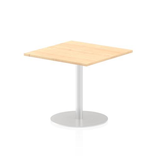 Italia Poseur Table Square 800/800 Top 725 High Maple
