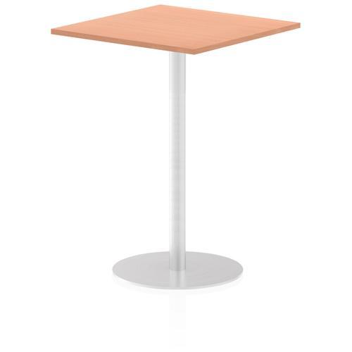 Italia Poseur Table Square 800/800 Top 1145 High Beech
