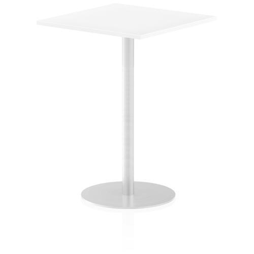 Italia Poseur Table Square 800/800 Top 1145 High White