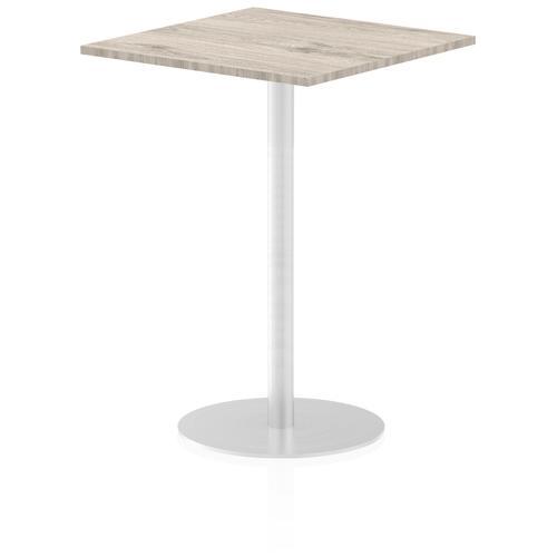 Italia Poseur Table Square 800/800 Top 1145 High Grey Oak