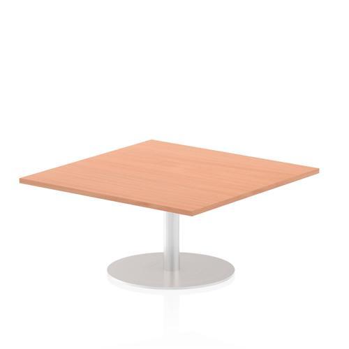 Italia Poseur Table Square 1000/1000 Top 475 High Beech