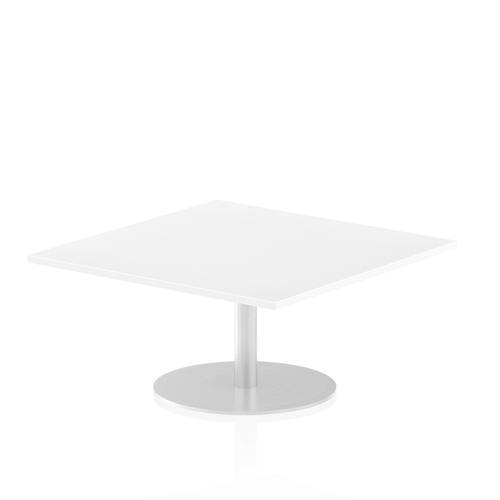 Italia Poseur Table Square 1000/1000 Top 475 High White