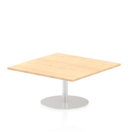Italia Poseur Table Square 1000/1000 Top 475 High Maple