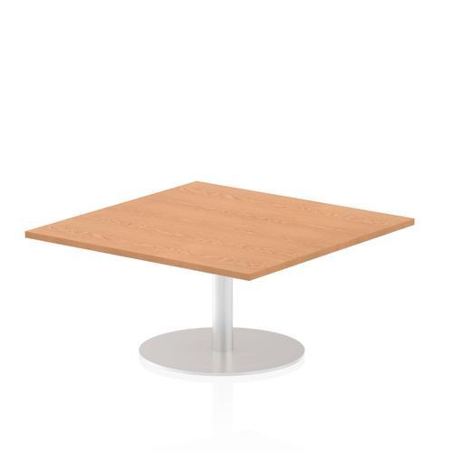 Italia Poseur Table Square 1000/1000 Top 475 High Oak
