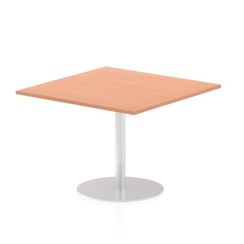 Italia Poseur Table Square 1000/1000 Top 725 High Beech