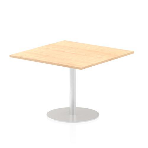 Italia Poseur Table Square 1000/1000 Top 725 High Maple