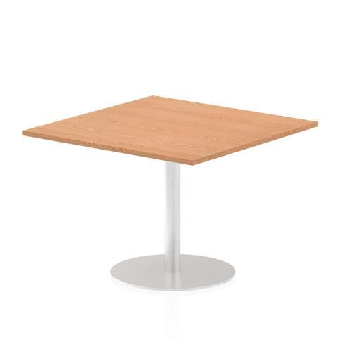 Italia Poseur Table Square 1000/1000 Top 725 High Oak