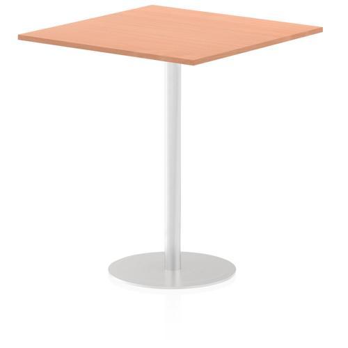 Italia Poseur Table Square 1000/1000 Top 1145 High Beech