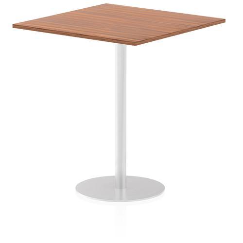 Italia Poseur Table Square 1000/1000 Top 1145 High Walnut