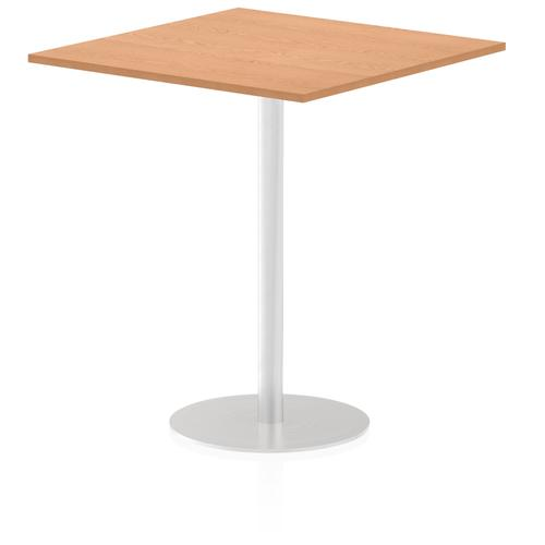 Italia Poseur Table Square 1000/1000 Top 1145 High Oak
