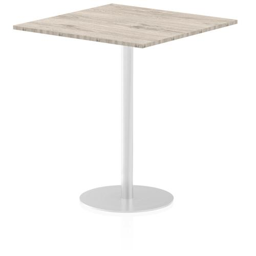 Italia Poseur Table Square 1000/1000 Top 1145 High Grey Oak