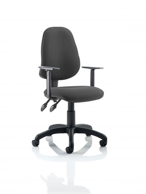 Eclipse Plus II Chair Charcoal Adjustable Arms KC0029