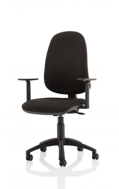Eclipse XL Lever Task Operator Chair Black With Height Adjustable Arms