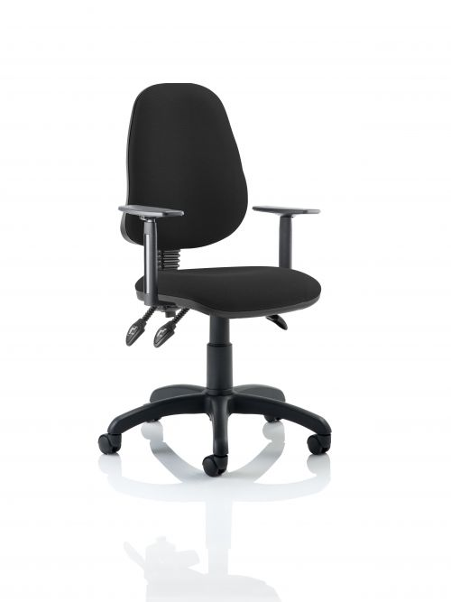 Eclipse III Lever Task Operator Chair Black With Height Adjustable Arms