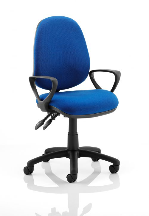 Luna II Lever Task Operator Chair Blue With Loop Arms