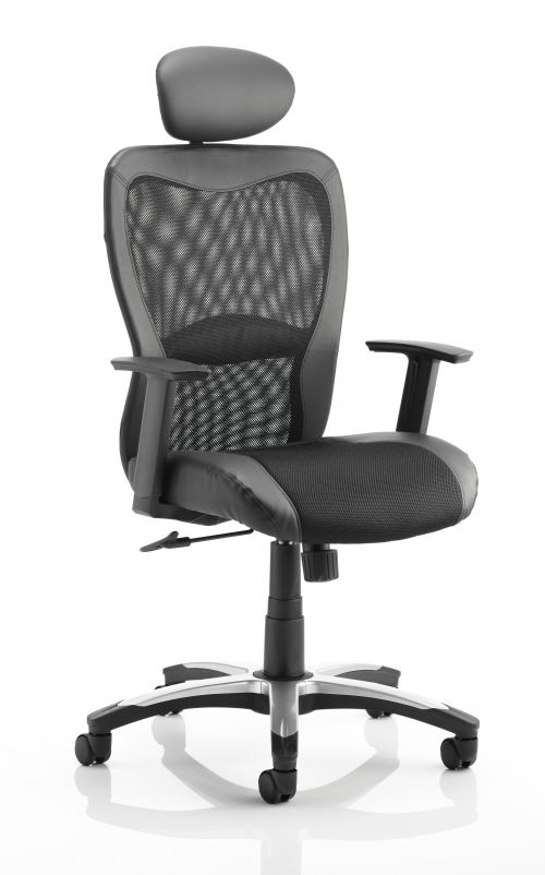 Victor II Executive Chair Black With Headrest KC0160