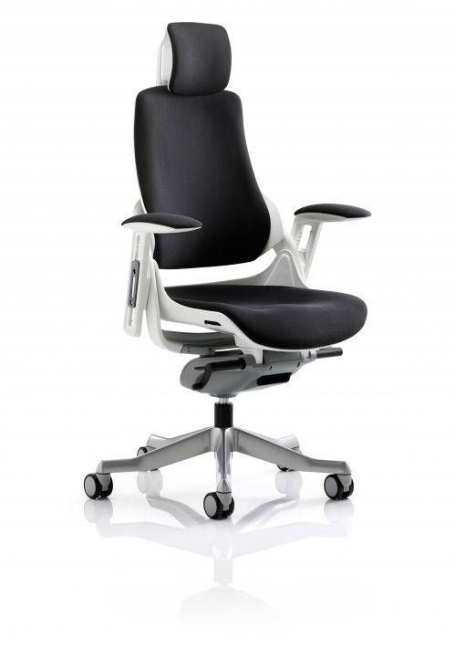 Zure Black Fabric With Arms With Headrest KC0161