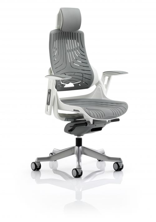 Zure Elastomer Gel Grey With Arms With Headrest KC0164