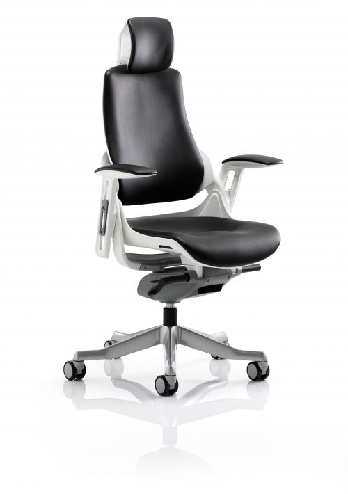 Zure Black Leather With Arms With Headrest KC0166