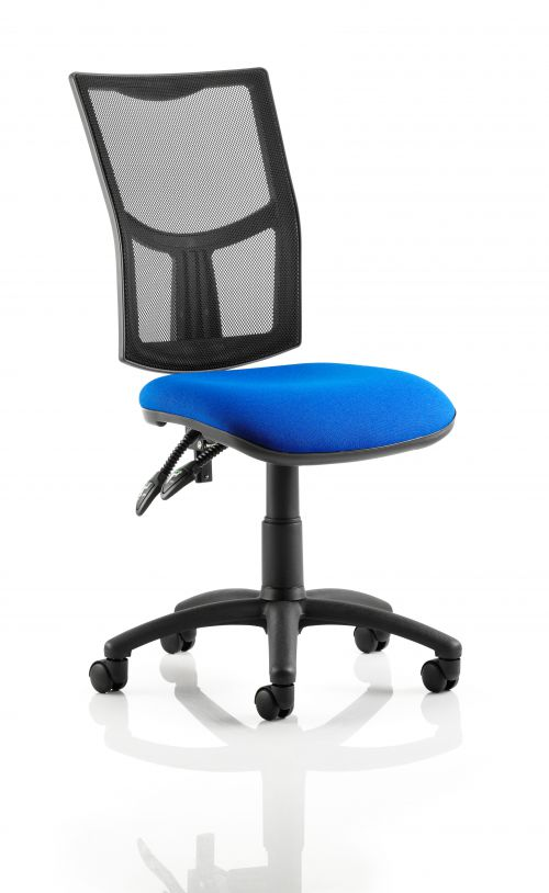Eclipse II Lever Task Operator Chair Mesh Back With Blue Seat