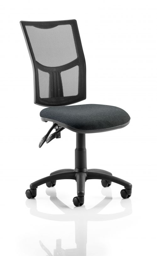 Eclipse II Lever Task Operator Chair Mesh Back With Charcoal Seat