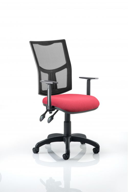 Eclipse Plus II Mesh Chair Wine Adjustable Arms KC0173