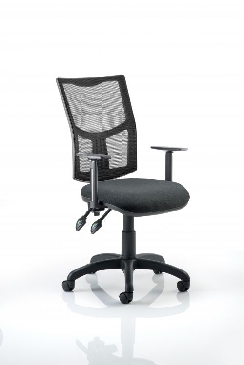 Eclipse Plus II Mesh Chair Charcoal Adjustable Arms KC0174