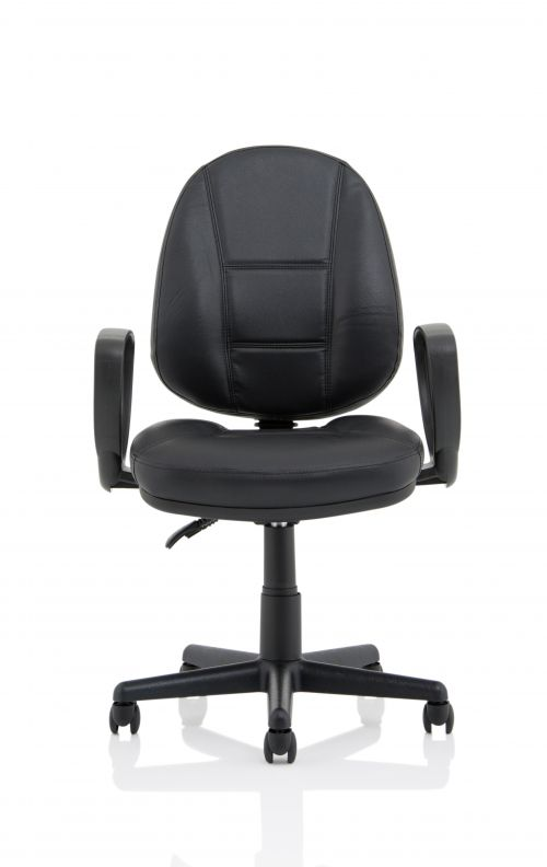 Jackson Black Leather High Back Executive Chair with Loop Arms