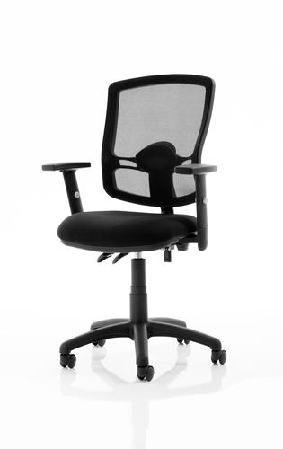 Eclipse Plus II Mesh Deluxe Chair Black Adjustable Arms KC0301