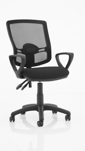 Eclipse Plus II Mesh Deluxe Chair Black loop Arms KC0304