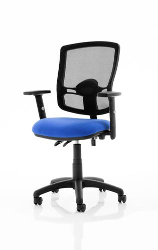 Eclipse Plus II Mesh Deluxe Chair Blue Adjustable Arms KC0307