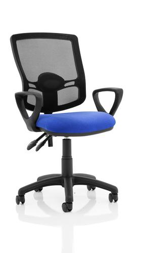 Eclipse Plus II Mesh Deluxe Chair Blue Loop Arms KC0310