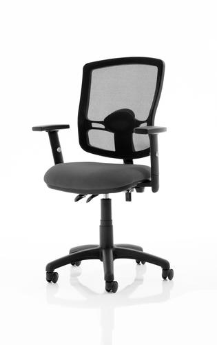 Eclipse Plus II Lever Task Operator Chair Mesh Back Deluxe With Charcoal Seat With Height Adjustable Arms