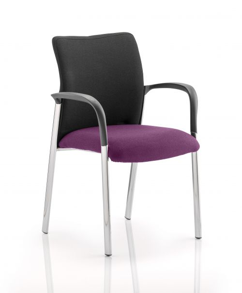 Academy Black Fabric Back Bespoke Colour Seat With Arms Purple