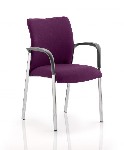 Academy Bespoke Colour Fabric Back And Bespoke Colour Seat With Arms Purple