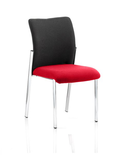 Academy Black Fabric Back Bespoke Colour Seat Without Arms Post Box Red