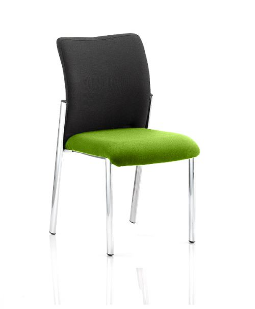 Academy Black Fabric Back Bespoke Colour Seat Without Arms Lime