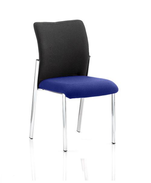 Academy Black Fabric Back Bespoke Colour Seat Without Arms Admiral Blue
