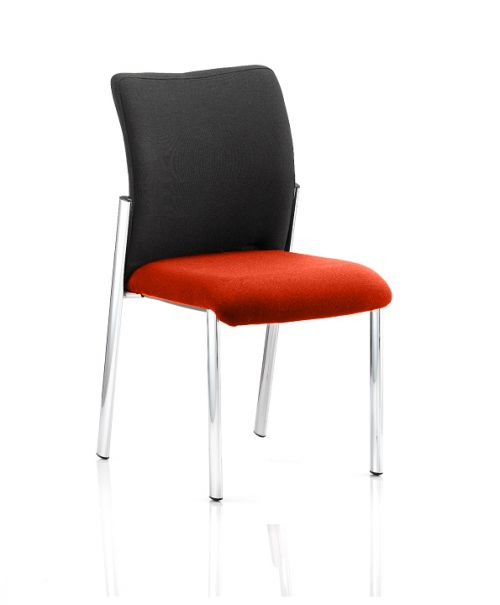 Academy Black Fabric Back Bespoke Colour Seat Without Arms Orange
