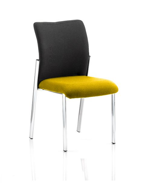 Academy Black Fabric Back Bespoke Colour Seat Without Arms Yellow