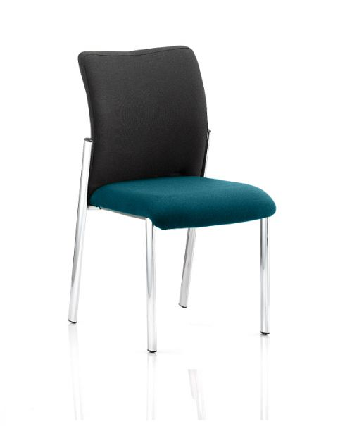 Academy Black Fabric Back Bespoke Colour Seat Without Arms Teal