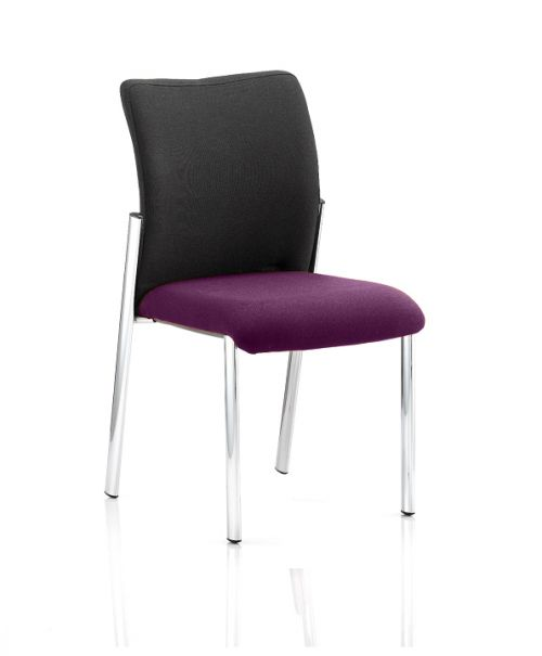 Academy Black Fabric Back Bespoke Colour Seat Without Arms Purple