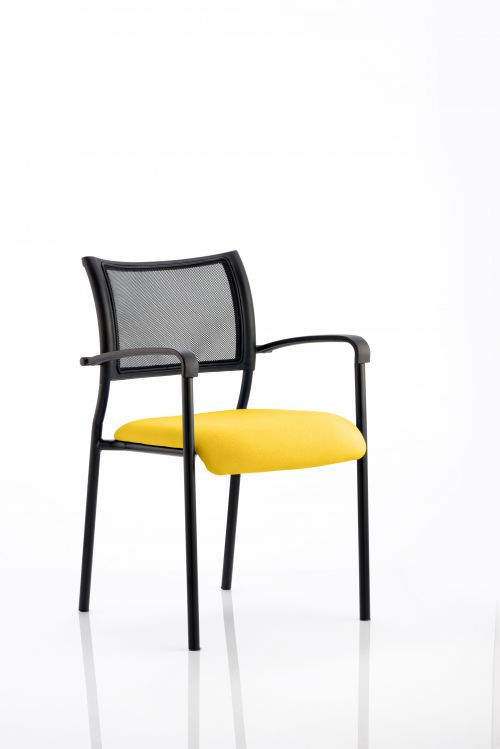 Brunswick Bespoke Colour Seat Black Frame Senna Yellow