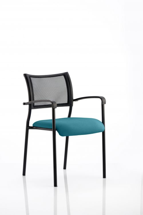 Brunswick Bespoke Colour Seat Black Frame Maringa Teal