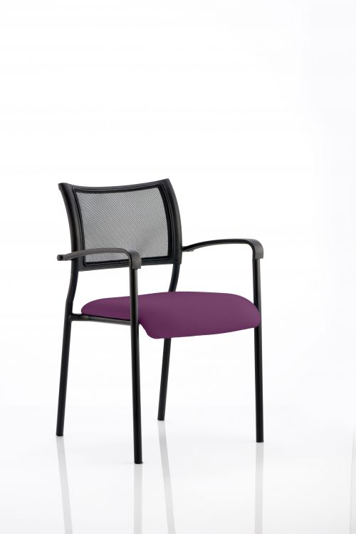 Brunswick Bespoke Colour Seat Black Frame Tansy Purple