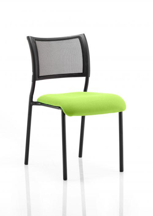 Brunswick No Arm Bespoke Colour Seat Black Frame Myrrh Green