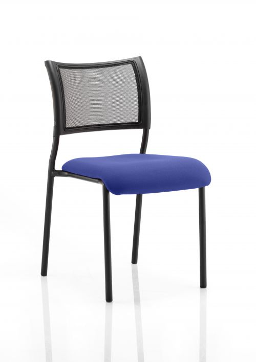 Brunswick No Arm Bespoke Colour Seat Black Frame Admiral Blue
