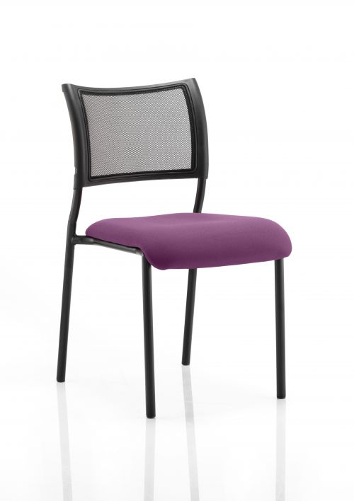 Brunswick No Arm Bespoke Colour Seat Black Frame Purple